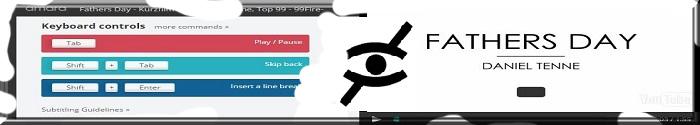 """Auschnitt der Website """"amara.org"""" mit Ansicht des Online Videobearbeitungstools wie z. B. Keyboard Control Buttons und Video Player. Logo Audiodeskription."""