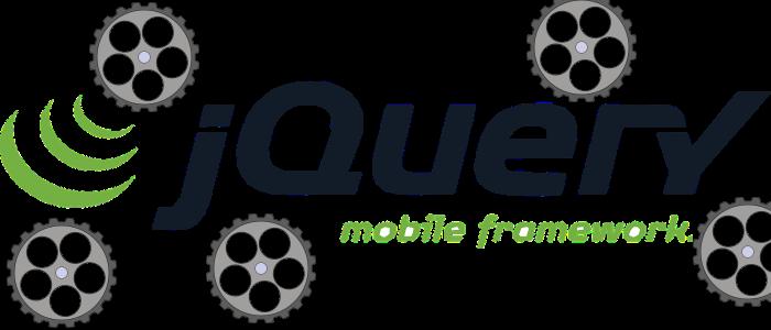 Das Logo von jQuery mit einigen Zahnrädern.