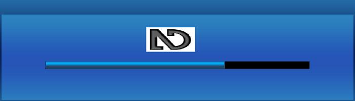 Das NVDA-Icon über einem Fortschrittsbalken