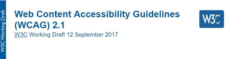 Screenshot: WCAG 2.1 Working Draft vom 12. September 2017